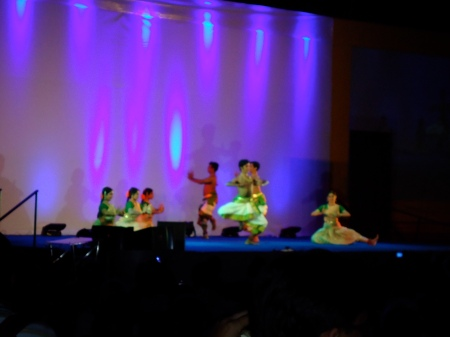 The performance of Indian classical dance