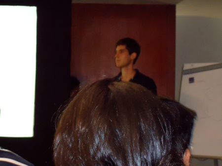 Jacob Lurie just before his talk