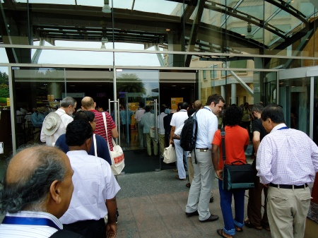 Queueing to get into HICC