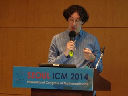 David Conlon at the start of his lecture